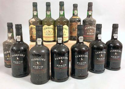 12 bouteilles PORTO Ferreira (sauf 1 Real...