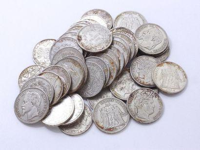 Lot en argent 800 millièmes composé de pièces...