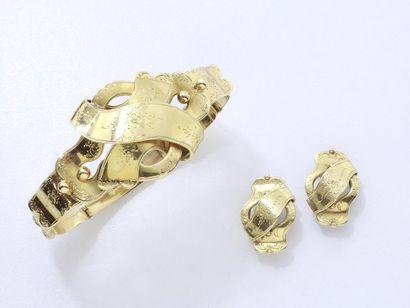 Bracelet articulé en or 750 millièmes estampé...