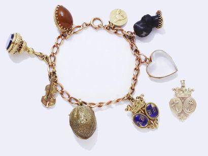 Bracelet articulé en or 750 millièmes, maillons...
