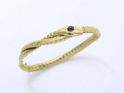 Bracelet jonc souple en or 750 millièmes,...