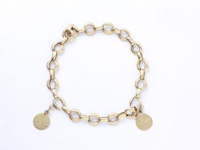 Bracelet en or 750 millièmes, composé de...