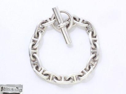 HERMÈS ''CHAÎNE D'ANCRE''. Bracelet articulé...