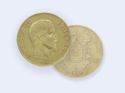 Pièce de 100 francs en or 750 millièmes,...