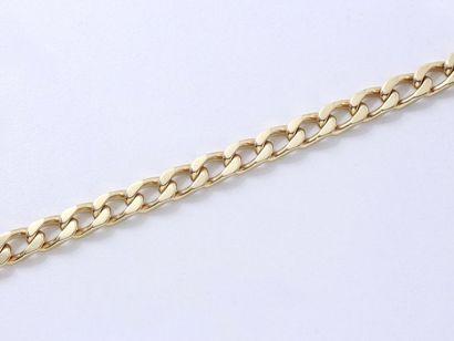 Bracelet en or 750 millièmes, maille gourmette,...