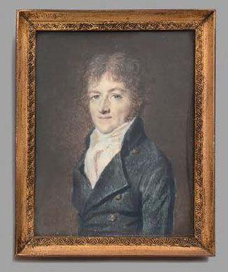 Christophe GUÉRIN (1758-1831), attribué à Portait présumé du père de l'artiste Miniature...