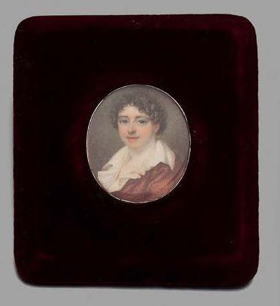 Louis-Marie SICARD dit SICARDI (1743-1825), atelier de Portrait miniature ovale peint...