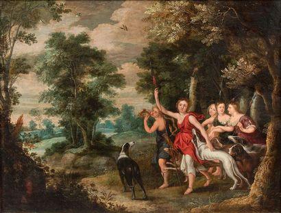 École FLAMANDE du XVIIe siècle, entourage de <br/>Lucas van UDEN