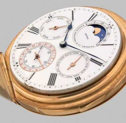 PATEK PHILIPPE n° 97781 / 223613 Montre en or 18k (750) avec répétions des minutes,...