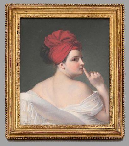 Pauline APPERT, née Lair (1810- après 1868) Allégorie du silence (1827) Important...