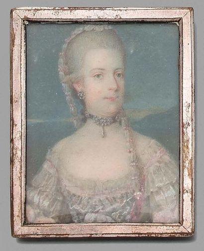 ECOLE AUTRICHIENNE DU XVIIIE SIECLE Portrait présumé de l'archiduchesse Marie-Christine...