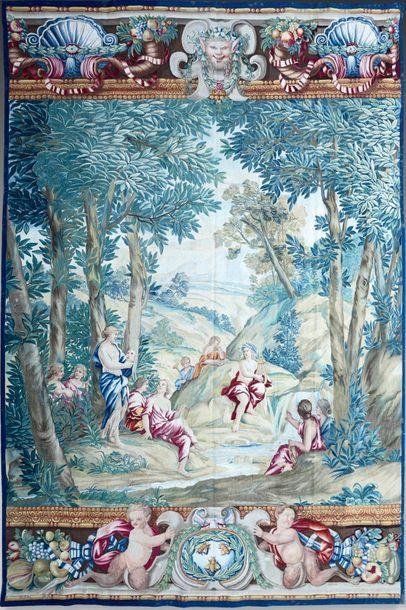 Très rare et unique tapisserie «Apollon et...