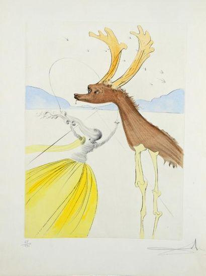 Salvador DALI (1904-1989) The Twelve Tribes of Israel, 1973 Frontispiece, Dan, Naphtali,...