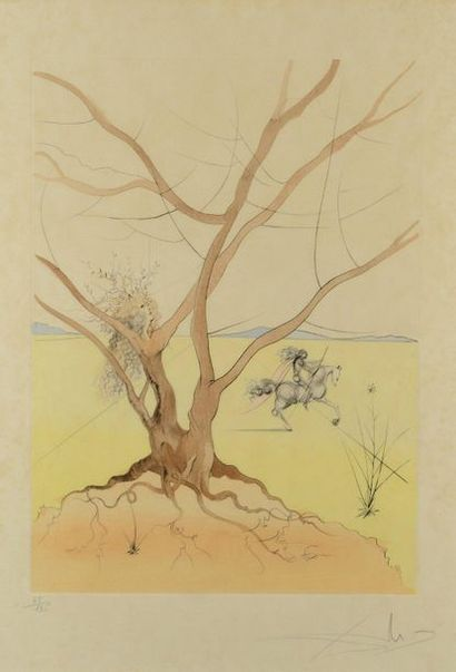 Salvador DALI (1904-1989) Asher - The Twelve Tribes of Israel, 1973 Etching and drypoint...