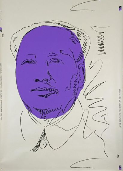 Andy Warhol (1928-1987) Mao Two color silkscreens. Wallpaper published in 1989-90...