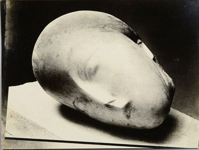 Constantin BRANCUSI (1876-1957) The Sleeping Muse (marble), 1911 Silver print (c....