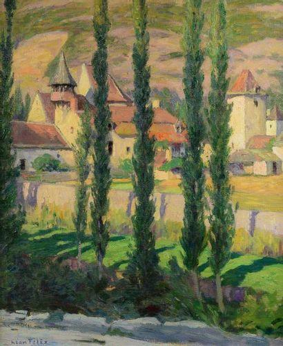 Léon Pierre FÉLIX (1869-1940) The village, 1932 Oil on canvas, signed lower left...