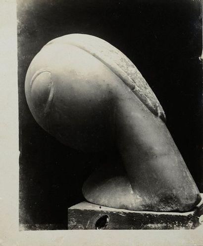 Constantin BRANCUSI (1876-1957) Narcisse (marbre), 1909 Épreuve argentique (c. 1920)....