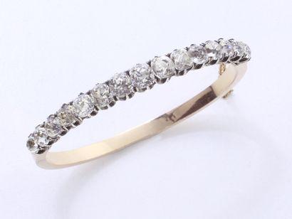 Bracelet jonc ouvrant à charnière en or 750...