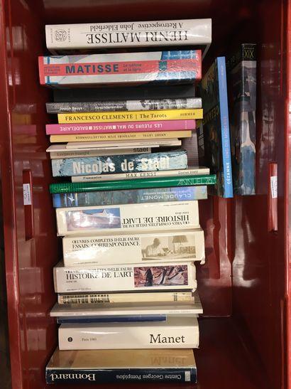 1 caisse de livres Beaux Arts et documentation...
