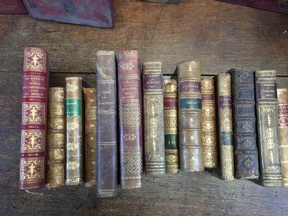 Lot de livres reliés XVIIIème et XIXème,...