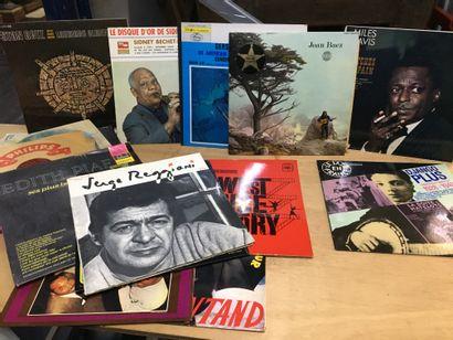 Lot de disques Jazz, Miles Davies, et di...