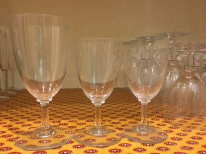 Partie de service de verres Baccarat dont...