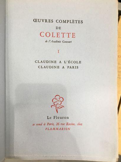 1 caisse de volumes brochézs COLETTE, Œuvres...