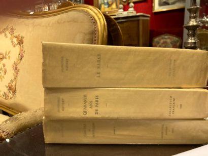 Trois volumes Alphone Daudet Le Nabab Alphonse...
