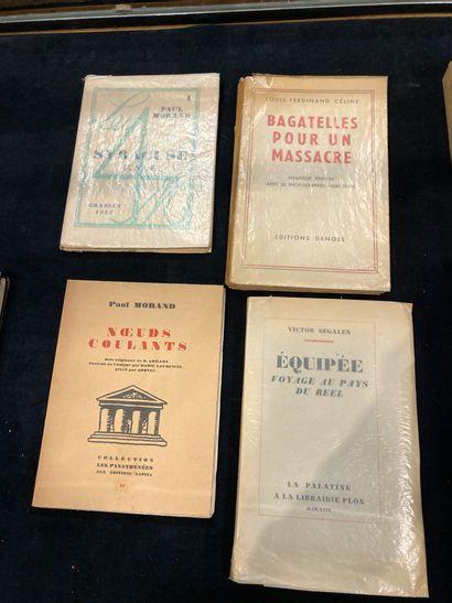 Quatre volumes Paul Morand Syracuse Celine...