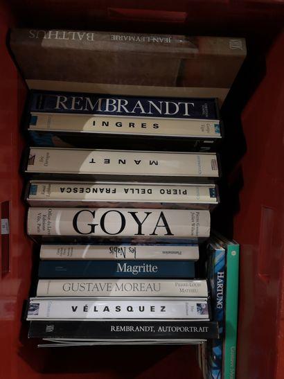 Lot de livres d'arts variés goya, Magritte,...