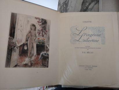 Lot de deux livres sous emboitage : Colette...