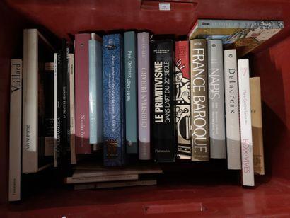Lot de livres d'arts variés Leger, Delacroix,...
