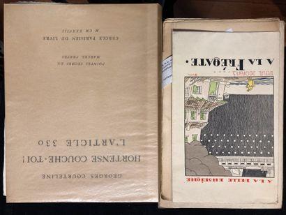 Lot de deux volumes A la fregate de Paul...