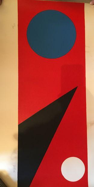 GILIOLI (1911-1970)  Deux lithographies en...