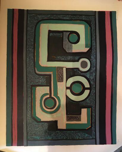 ANDREENKO  Deux lithographies numérotés 85/99...