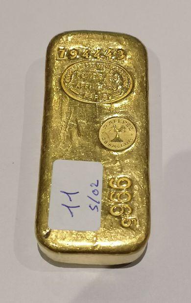 Lingot en or n°794443 996.5 g. Compagnie...