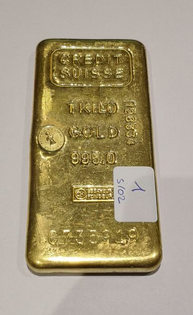 Lingot en or n°C735919 Crédit suisse 995...