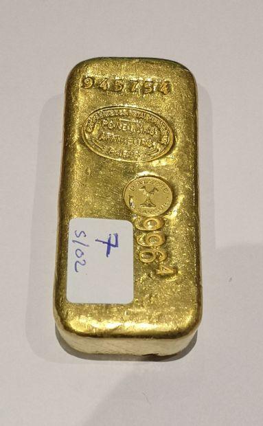 Lingot en or n°945754 996.40 g. Comptoir...