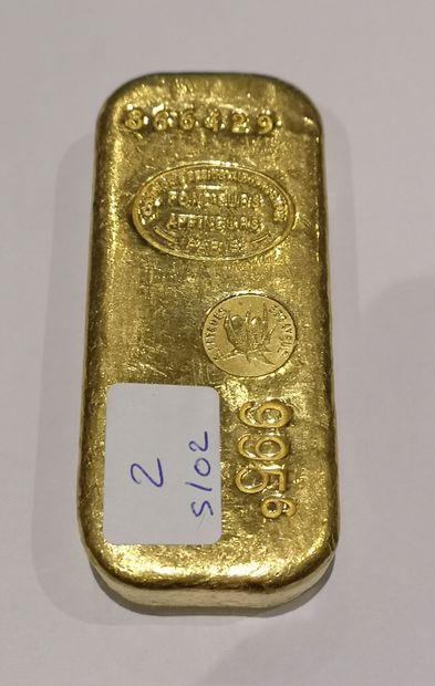 Lingot en or n°866429 995,6 g. Compagnie...