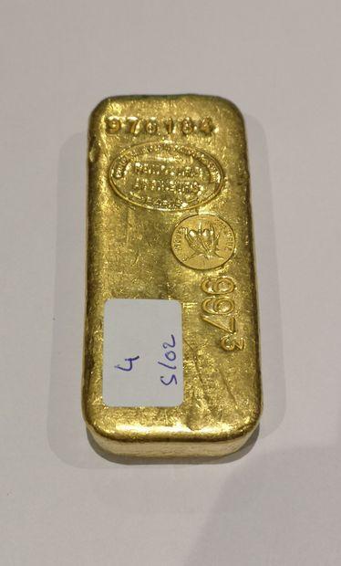 Lingot en or n°976184 997.30 g. Compagnie...