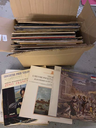Lot disques vinyles classiques : ROSSINI,...