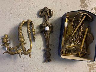 Lot d'appliques et éléments de bronzes  H:...