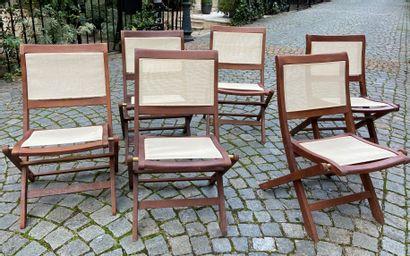 Six chaises de jardin  Moderne  84 x 53 x...