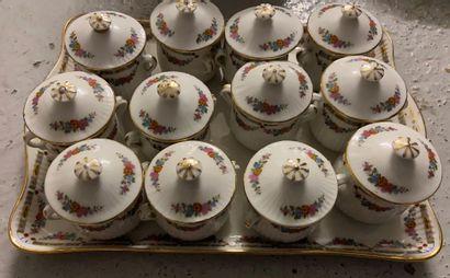 Ensemble de 12 petits pots à crème et leur...