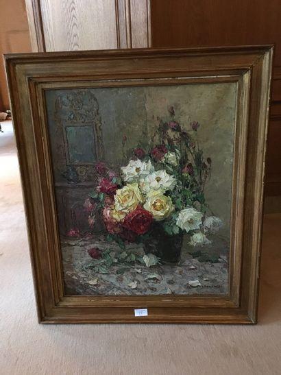 L. BONAMICI_x000D_  Bouquet de roses_x000D_...