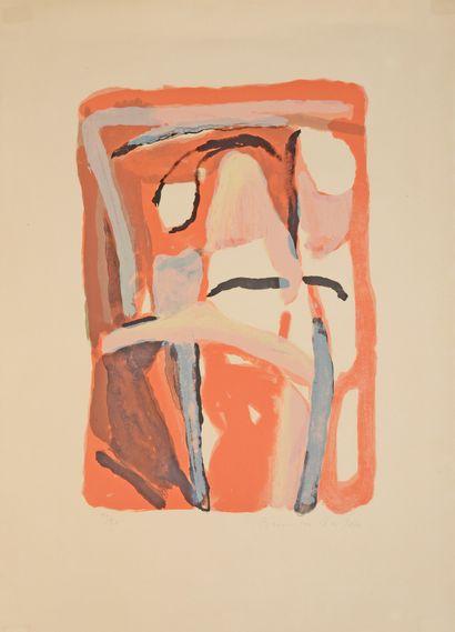 Bram VAN VELDE (1895-1981)  Sans titre, 1968...