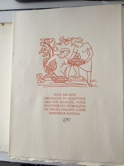 Aristide MAILLOL (1861- 1944)  Les Géorgiques...