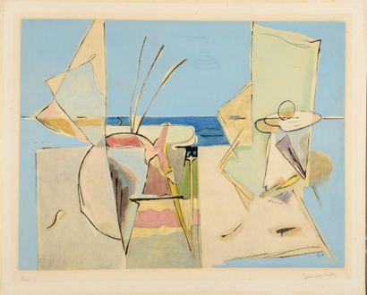 Geer VAN VELDE (1898-1977)  La Plage, 1969...