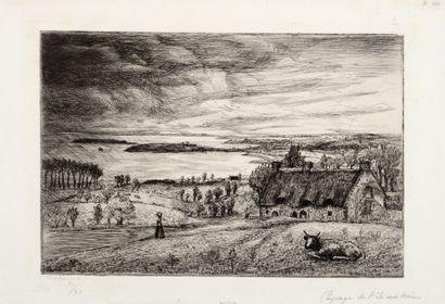 Jean FRELAUT (1879-1954)  Paysage de l'Ile...